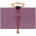 Houndstooth w/Pink Accent Sheer Sarong (Personalized)