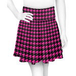 Houndstooth w/Pink Accent Skater Skirt (Personalized)