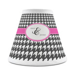 Houndstooth w/Pink Accent Chandelier Lamp Shade (Personalized)