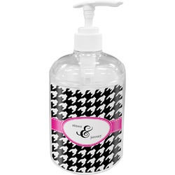 Houndstooth w/Pink Accent Soap / Lotion Dispenser (Personalized)