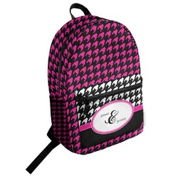 Houndstooth w/Pink Accent Student Backpack (Personalized)
