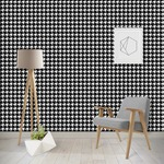 Houndstooth w/Pink Accent Wallpaper & Surface Covering
