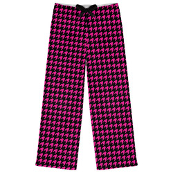 Houndstooth w/Pink Accent Womens Pajama Pants (Personalized)