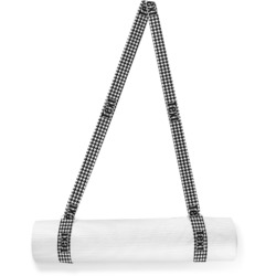 Houndstooth w/Pink Accent Yoga Mat Strap (Personalized)