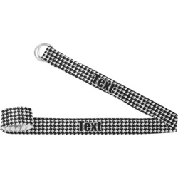 Houndstooth w/Pink Accent Yoga Strap (Personalized)