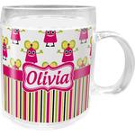 Pink Monsters & Stripes Acrylic Kids Mug (Personalized)