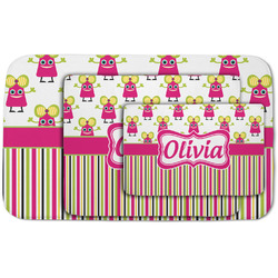 Pink Monsters & Stripes Area Rug (Personalized)