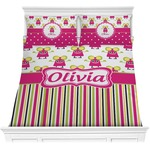 Pink Monsters & Stripes Comforters (Personalized)