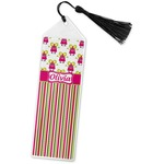 Pink Monsters & Stripes Book Mark w/Tassel (Personalized)