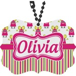 Pink Monsters & Stripes Rear View Mirror Charm (Personalized)