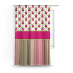Pink Monsters & Stripes Curtain (Personalized)