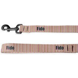 Pink Monsters & Stripes Deluxe Dog Leash (Personalized)