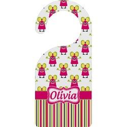 Pink Monsters & Stripes Door Hanger (Personalized)
