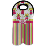 Pink Monsters & Stripes Wine Tote Bag (2 Bottles) (Personalized)