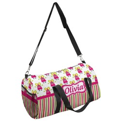 Pink Monsters & Stripes Duffel Bag (Personalized)