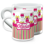 Pink Monsters & Stripes Espresso Cups (Personalized)