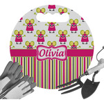 Pink Monsters & Stripes Gardening Knee Cushion (Personalized)