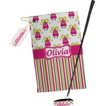 Pink Monsters & Stripes Golf Towel Gift Set (Personalized)
