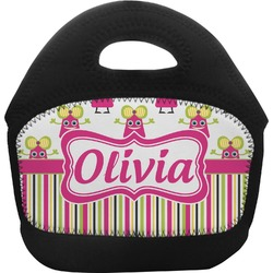 Pink Monsters & Stripes Toddler Lunch Tote (Personalized)