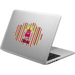 Pink Monsters & Stripes Laptop Decal (Personalized)