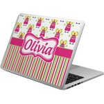 Pink Monsters & Stripes Laptop Skin - Custom Sized (Personalized)