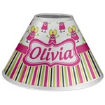 Pink Monsters & Stripes Coolie Lamp Shade (Personalized)