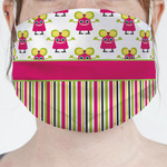 Pink Monsters & Stripes Face Mask Cover (Personalized)