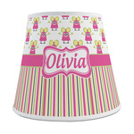 Pink Monsters & Stripes Empire Lamp Shade (Personalized)