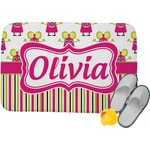 Pink Monsters & Stripes Memory Foam Bath Mat (Personalized)