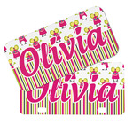 Pink Monsters & Stripes Mini/Bicycle License Plates (Personalized)