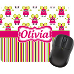 Pink Monsters & Stripes Mouse Pads (Personalized)