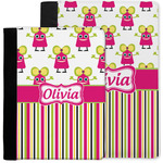 Pink Monsters & Stripes Notebook Padfolio w/ Name or Text