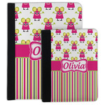 Pink Monsters & Stripes Padfolio Clipboard (Personalized)