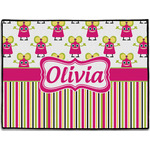 Pink Monsters & Stripes Door Mat (Personalized)