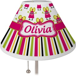 Pink Monsters & Stripes Lamp Shade (Personalized)