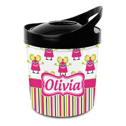 Pink Monsters & Stripes Plastic Ice Bucket (Personalized)