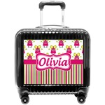 Pink Monsters & Stripes Pilot / Flight Suitcase (Personalized)