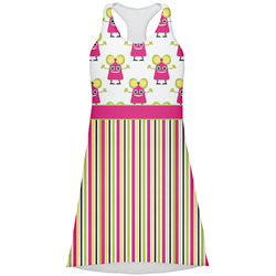 Pink Monsters & Stripes Racerback Dress (Personalized)