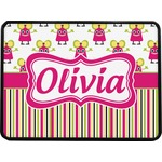 Pink Monsters & Stripes Rectangular Trailer Hitch Cover (Personalized)