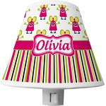 Pink Monsters & Stripes Shade Night Light (Personalized)