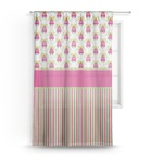 Pink Monsters & Stripes Sheer Curtains (Personalized)