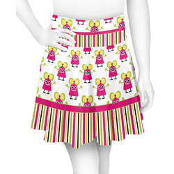 Pink Monsters & Stripes Skater Skirt (Personalized)