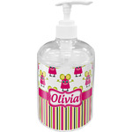 Pink Monsters & Stripes Soap / Lotion Dispenser (Personalized)