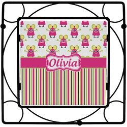 Pink Monsters & Stripes Trivet (Personalized)