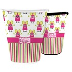 Pink Monsters & Stripes Waste Basket (Personalized)