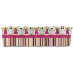 Pink Monsters & Stripes Valance (Personalized)