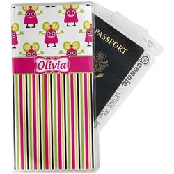 Pink Monsters & Stripes Travel Document Holder
