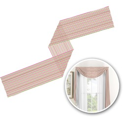 Pink Monsters & Stripes Window Sheer Scarf Valance (Personalized)