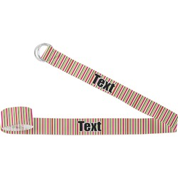 Pink Monsters & Stripes Yoga Strap (Personalized)