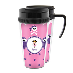 Pink Pirate Acrylic Travel Mugs (Personalized)